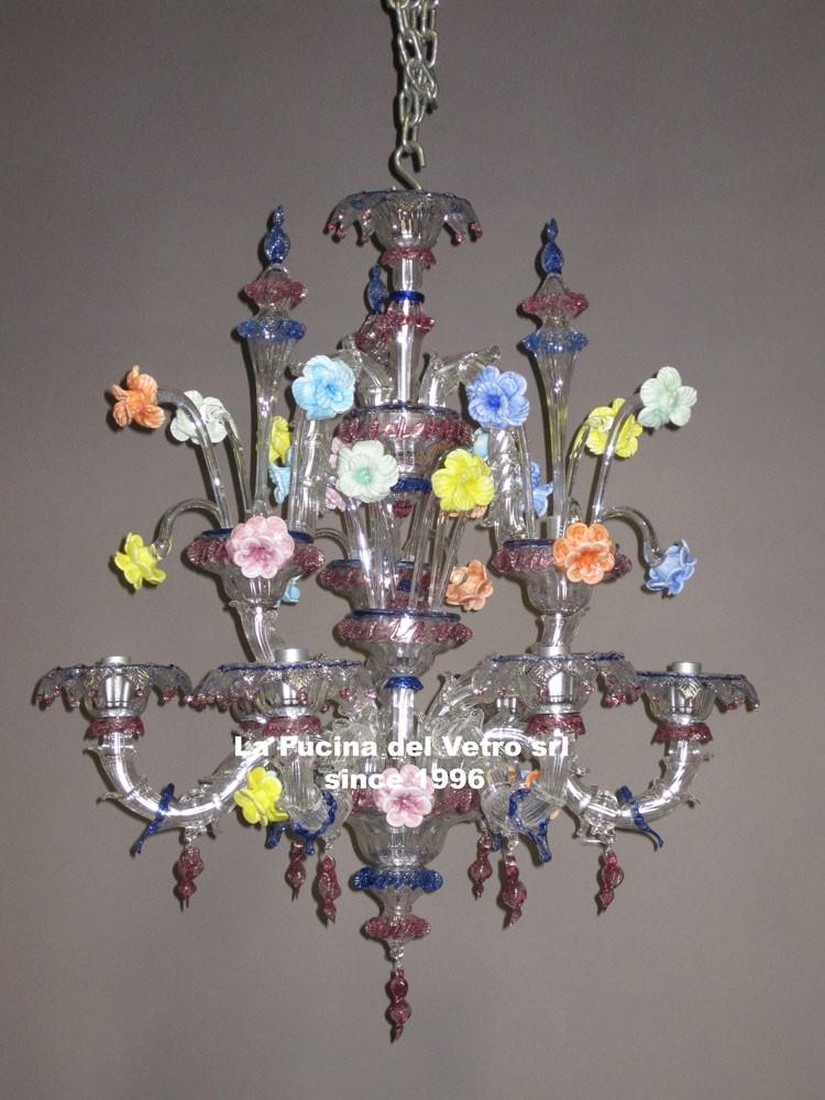 lampadari veneto : Lampadario in vetro di Murano