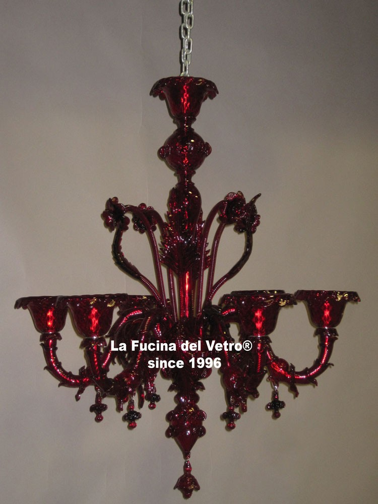 lampadari colorati : Lampadario in vetro di Murano