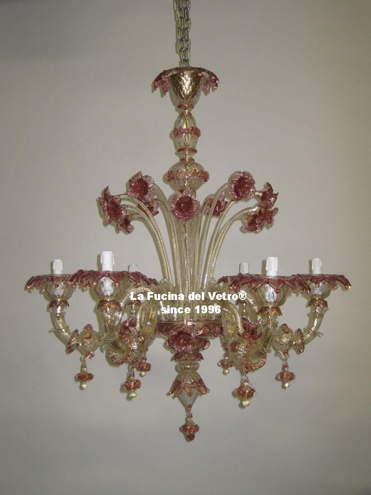 Lampadario in vetro di Murano