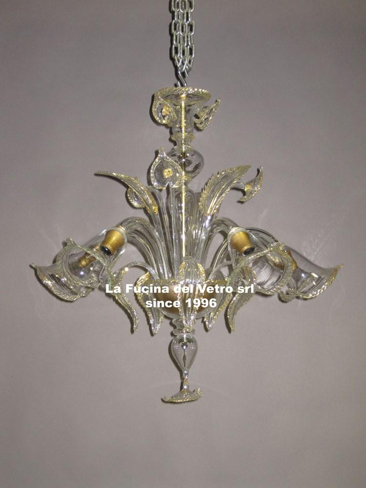 "Murano glass chandelier ""aquatic"" – shop on line"