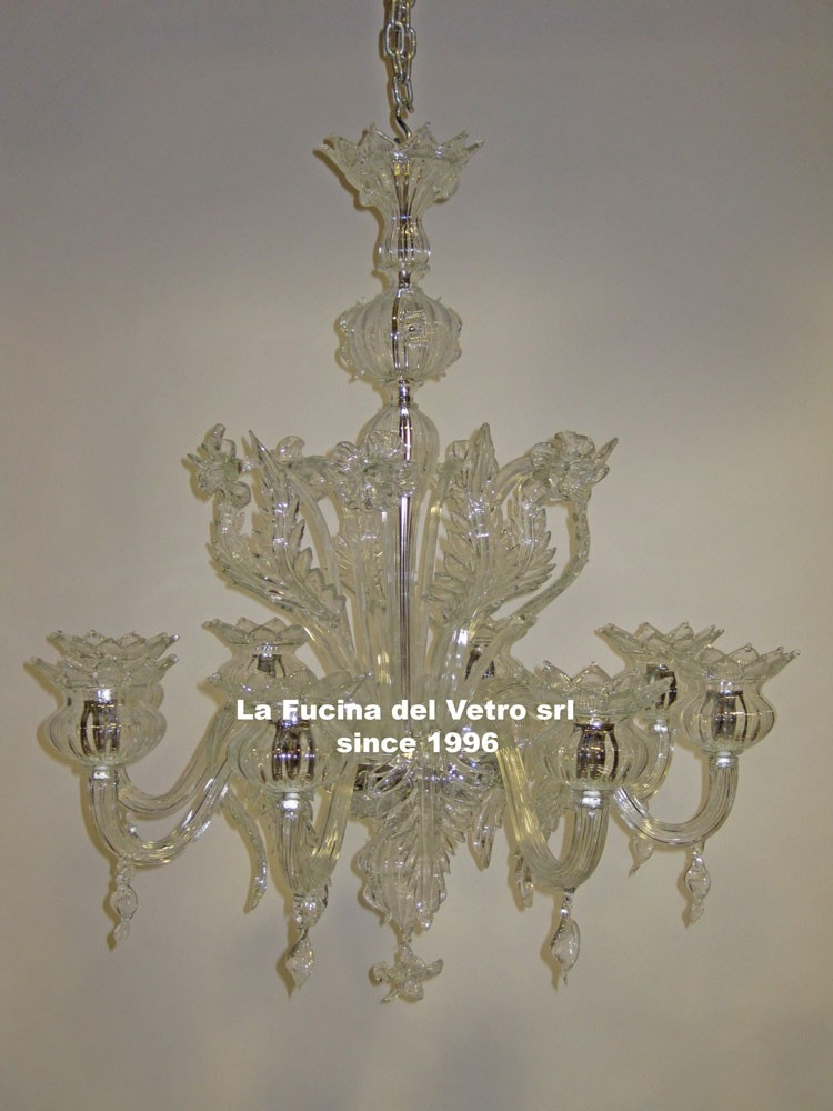 "Murano glass chandelier ""onion"" – shop on line"
