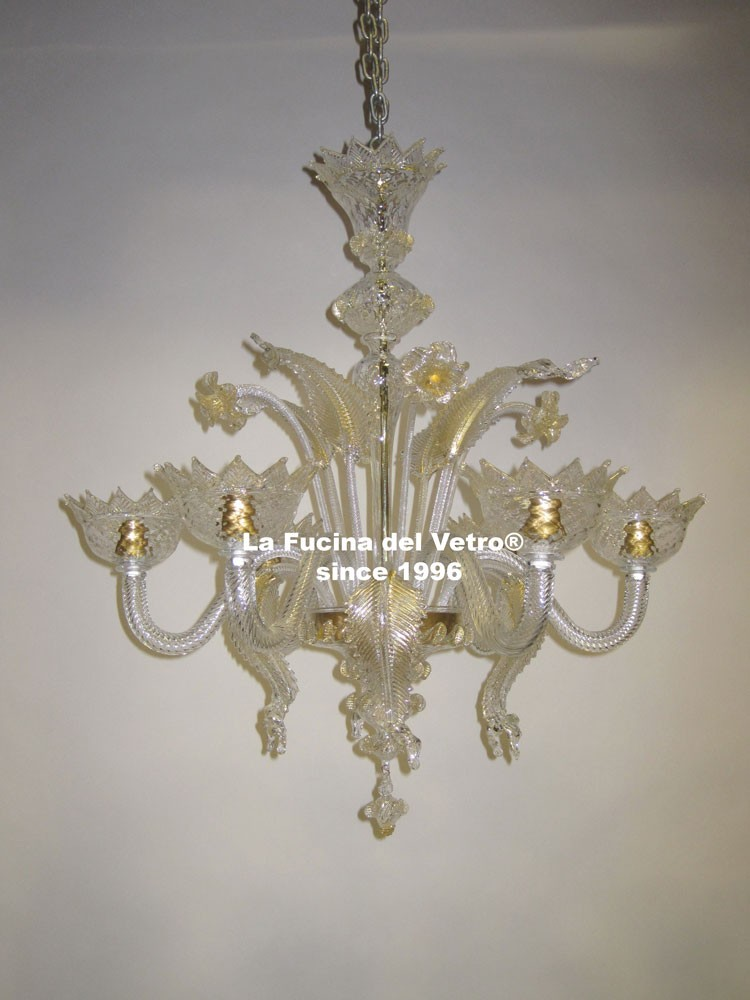 "Murano glass chandelier ""classic"" – shop on line"
