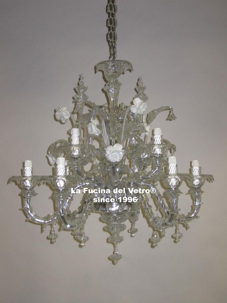 lampadario in vetro di murano minirezzonico antico il lampadario nella ...