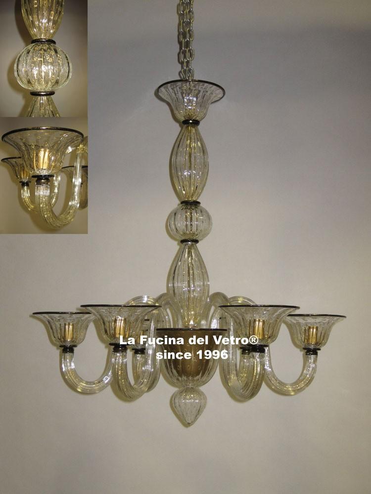 Lampadario in vetro di murano bolle vendita on line for Immagini lampadari moderni