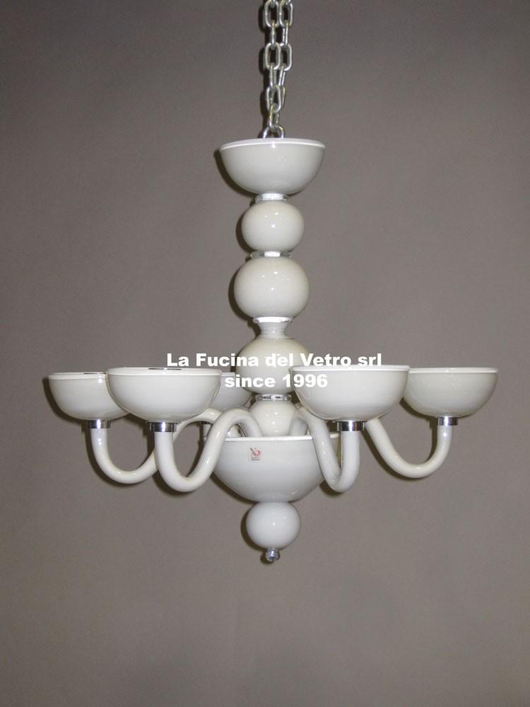 Lampadario in vetro di Murano MODERNO TUTTO SFERE - Vendita On Line