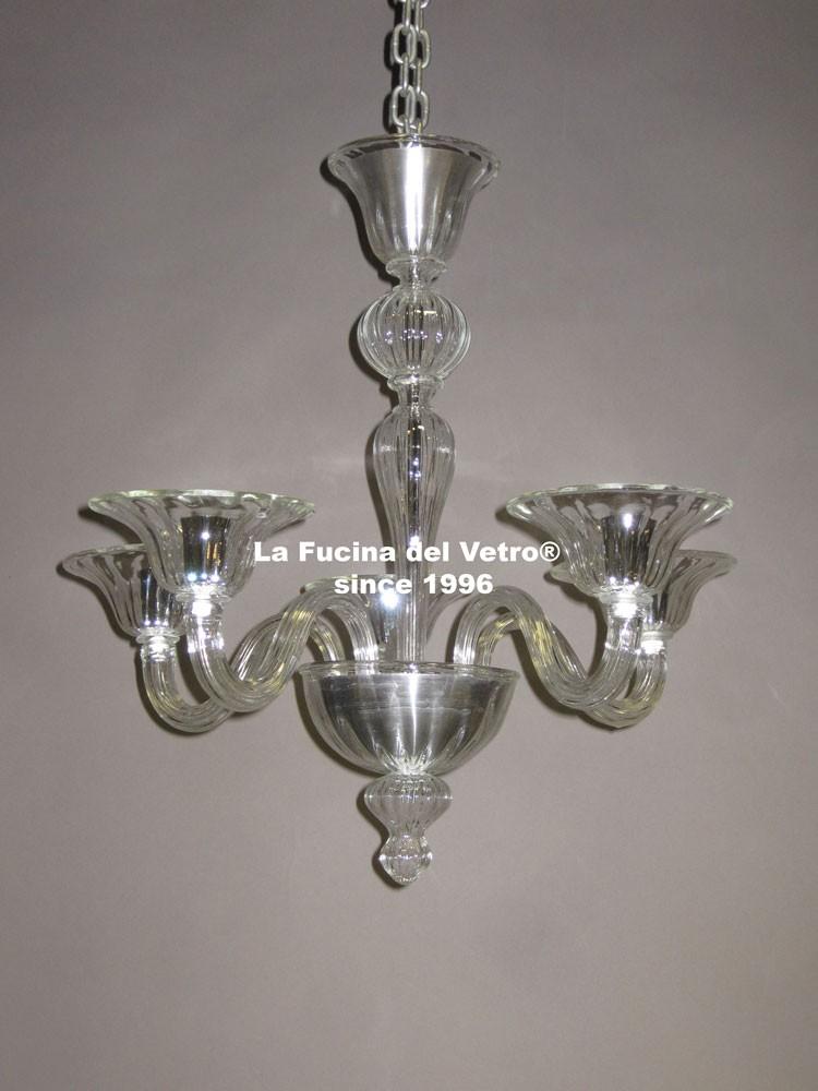 lampadario in vetro di murano moderno pastorale