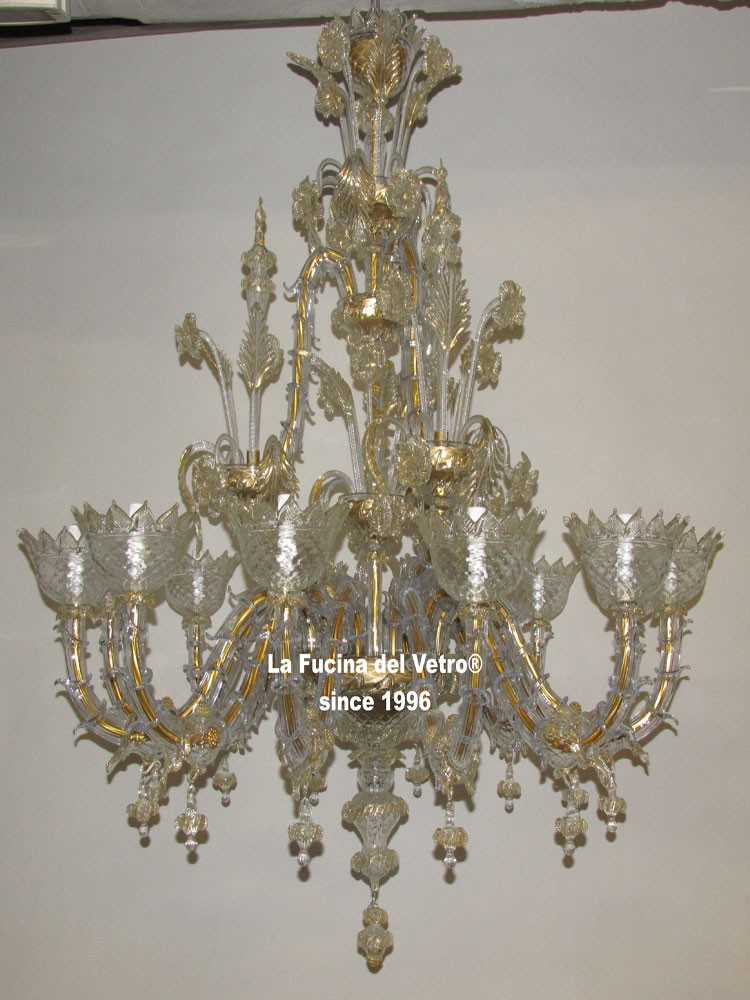 Lampadario in vetro di Murano  u0026quot;REZZONICO CLASSICO u0026quot;   Vendita On Line -> Lampadari Classici Vetro Murano
