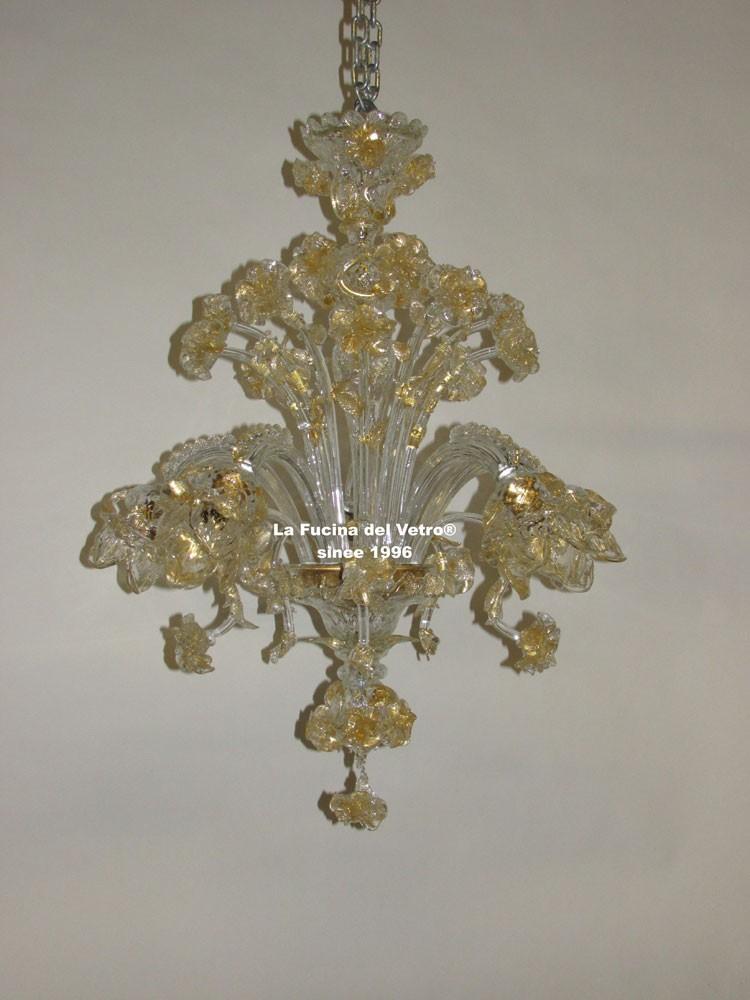 Lampadario in vetro di murano roseto vers 5 vendita on for Lampadario vetro murano moderni