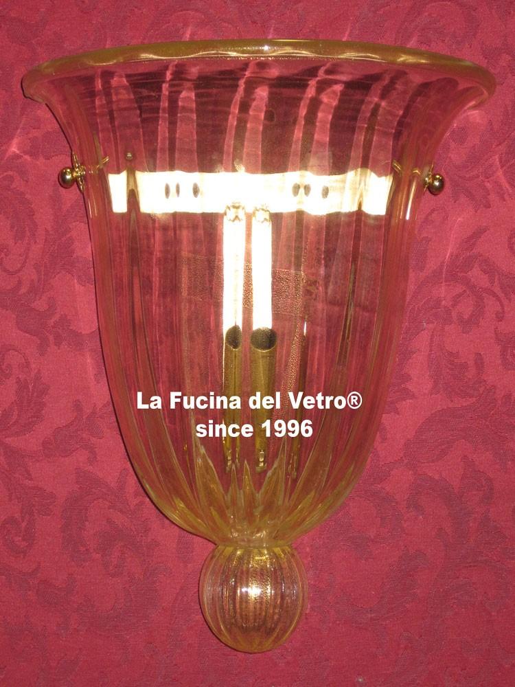 """Plafoniera a muro in vetro di Murano """"CLASSICA"""" - Vendita On Line"""