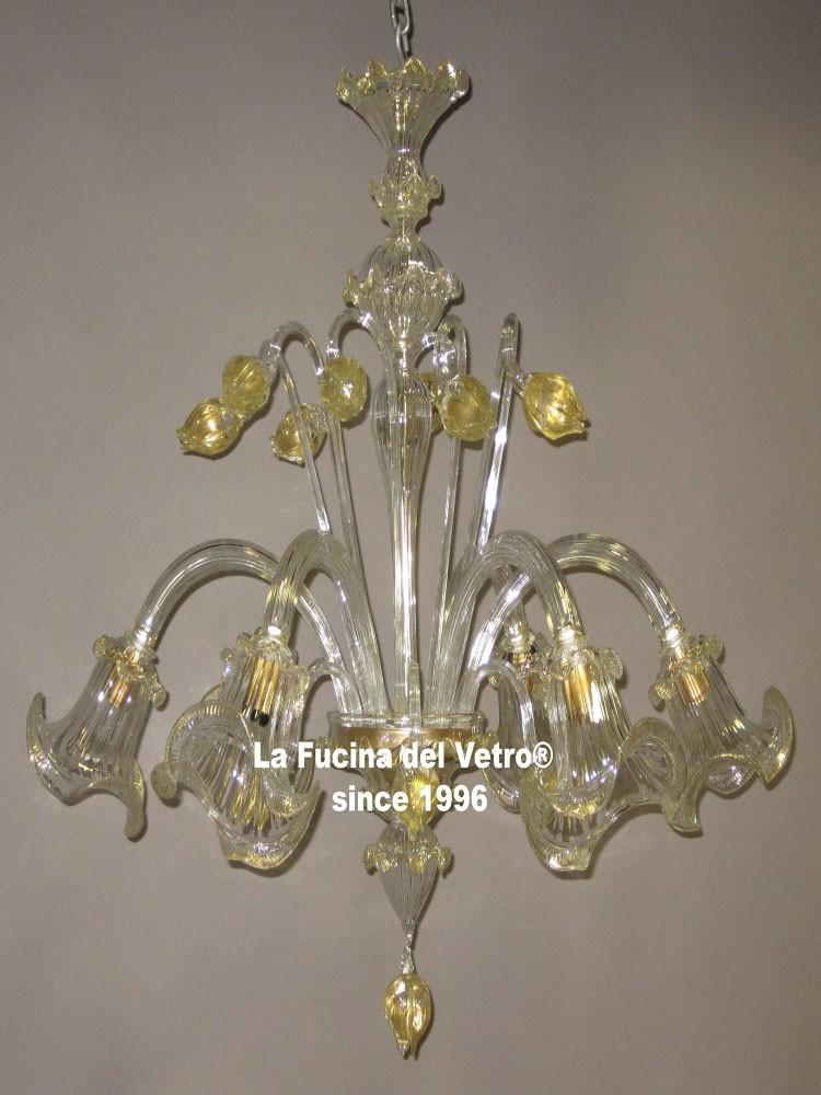 Lampadario in vetro di murano tulipani vendita on line for Foto lampadari moderni
